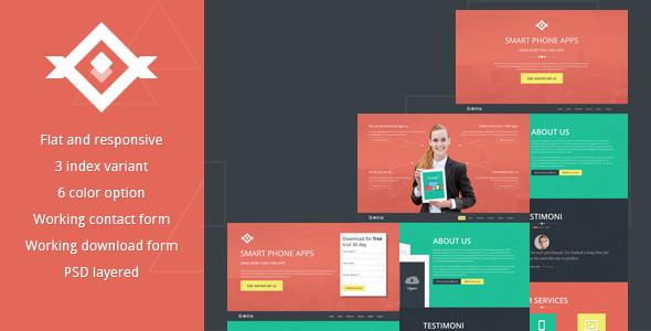5-Slander – Responsive Bootstrap HTML5 Landing Page