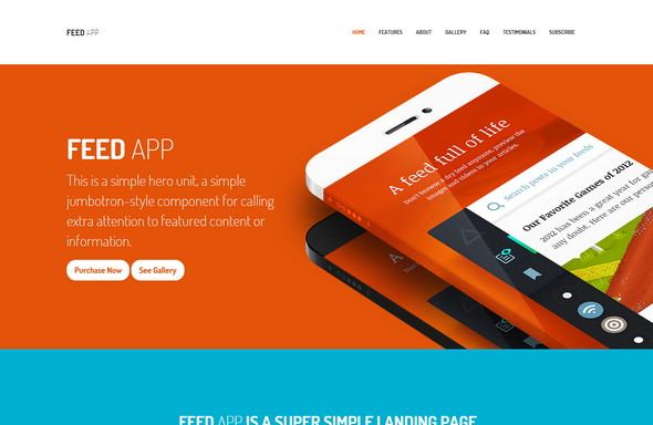 7-Appster – Ultimate Clean App Landing Page Template